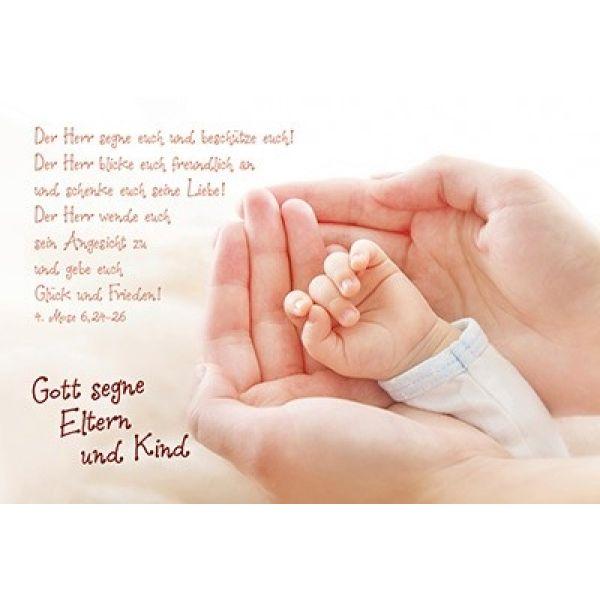 Faltkarte: 4.Mose 6,24-26 - Geburt