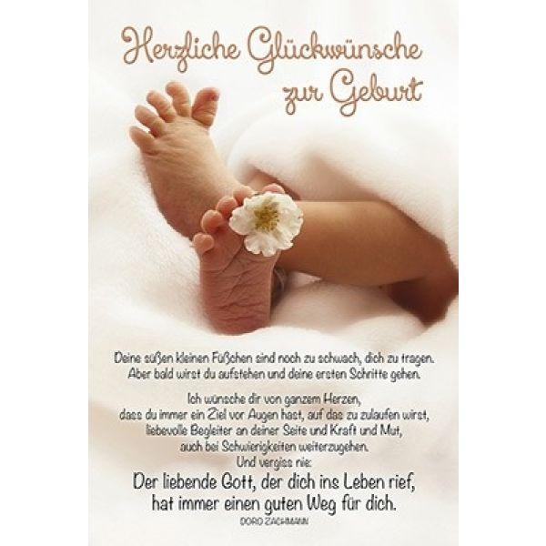Attraktiv Faltkarte: Herzliche Glückwünsche zur Geburt (Schreibwaren) NP65