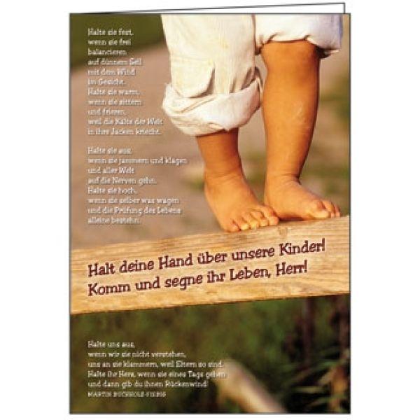 Faltkarte: Halt deine Hand - Geburt