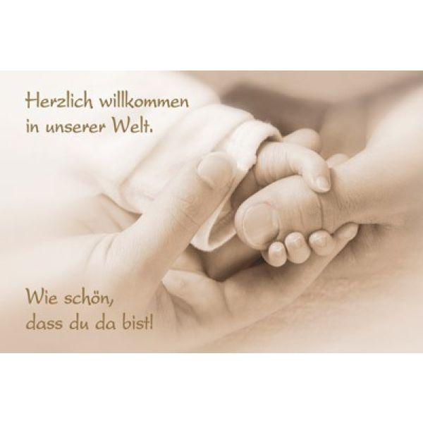 Faltkarte: Herzlich willkommen in unserer Welt - Geburt