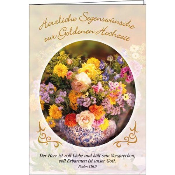 Faltkarte: Herzliche Segenswünsche zur Goldenen Hochzeit - Hochzeit