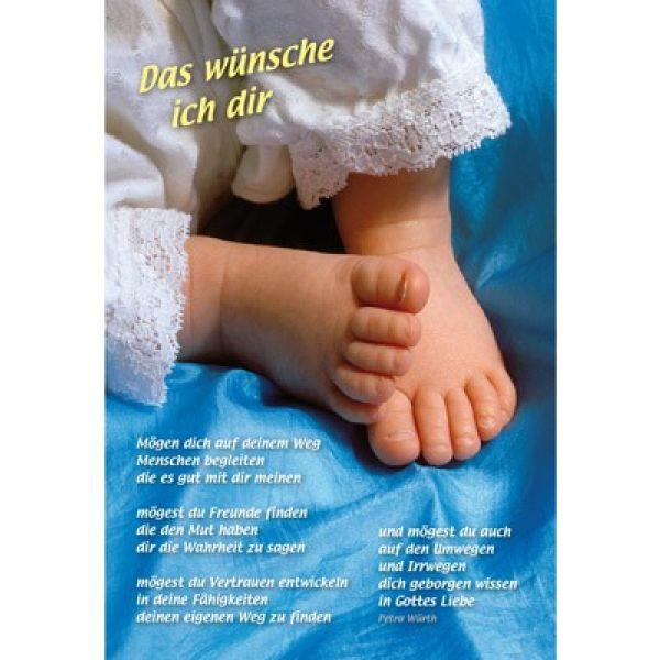 Faltkarte: Das wünsche ich dir - Geburt