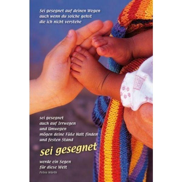 Faltkarte: Sei gesegnet - Geburt