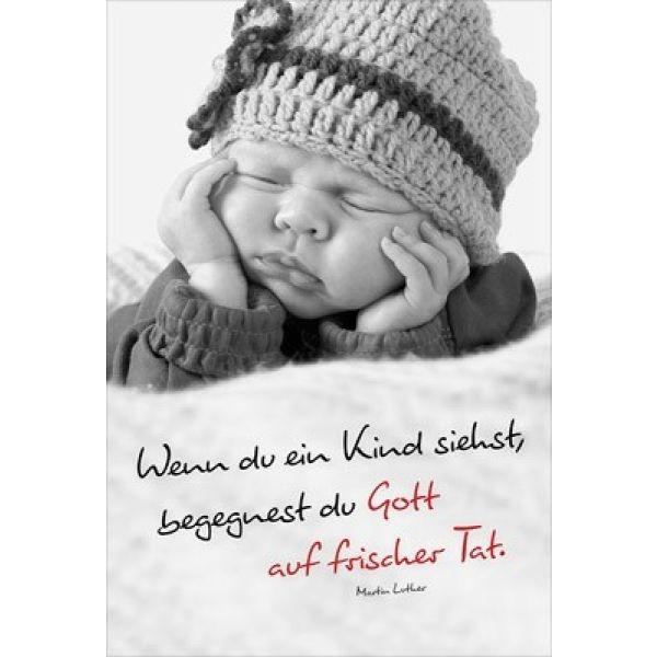 Faltkarte: Wenn du ein Kind siehst - Geburt