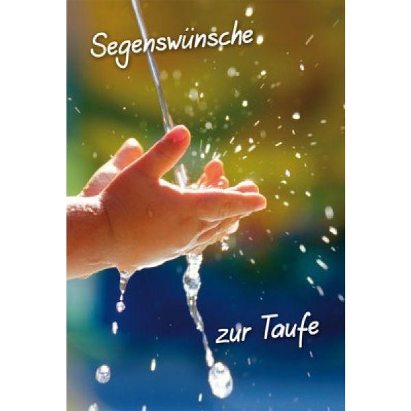 Faltkarte: Segenswünsche zur Taufe - Taufe