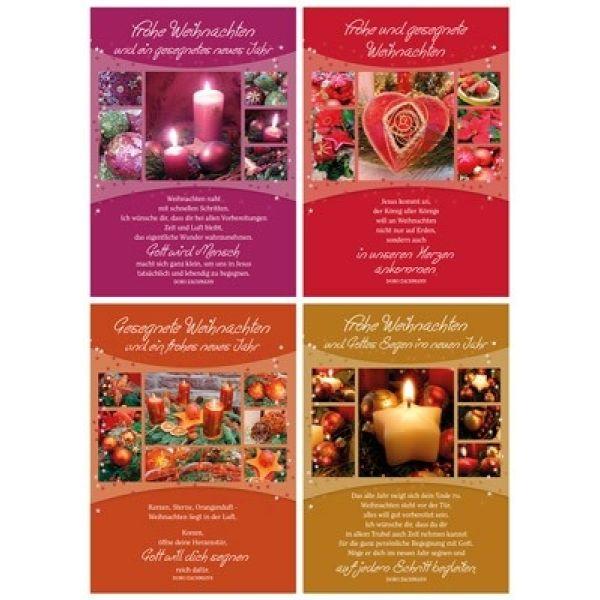 Faltkarten: Weihnachts-Serie - 4 Stück