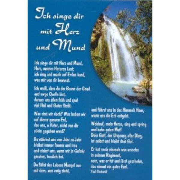 Postkarten: Ich singe Dir mit Herz und Mund, 12 Stück