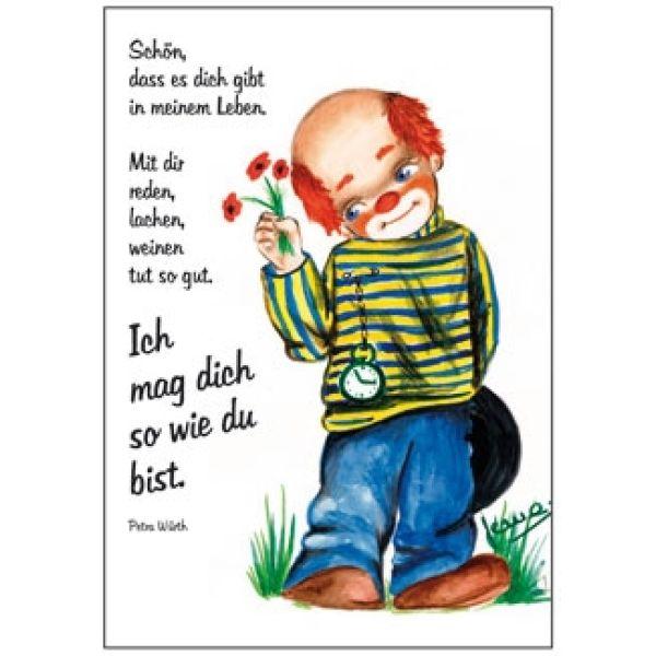 Postkarten: Clown - Schön, dass es dich gibt ..., 12 Stück