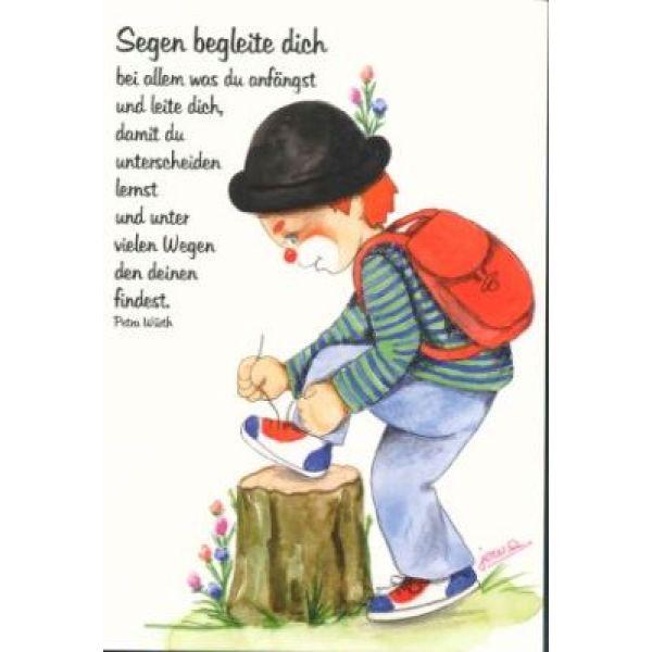 Postkarten: Clown - Segen begleite Dich, 12 Stück