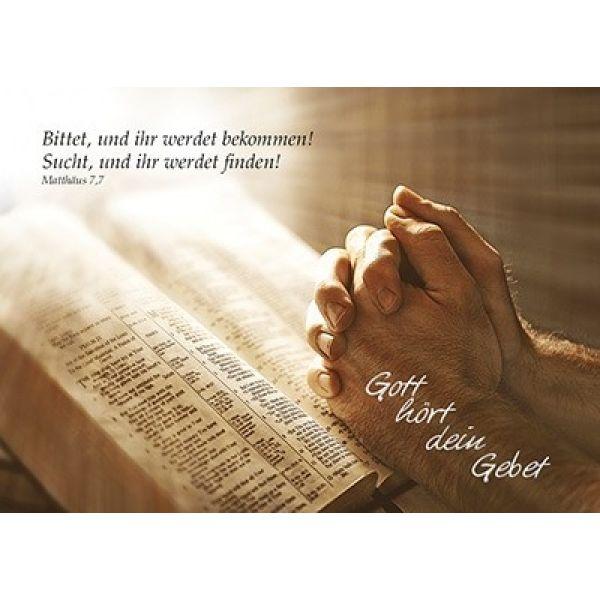 Postkarten: Gott hört dein Gebet, 12 Stück