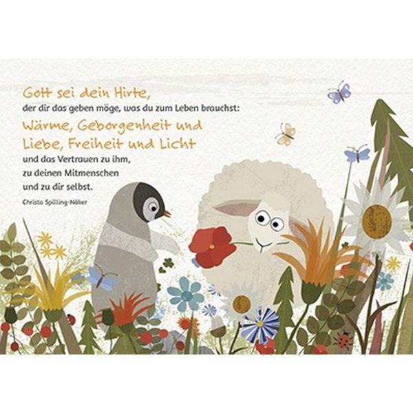 Postkarten: Gott sei den Hirte, 12 Stück