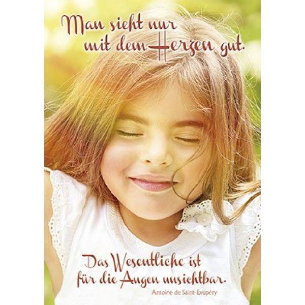 Poster: Man sieht nur mit dem Herzen gut - A3