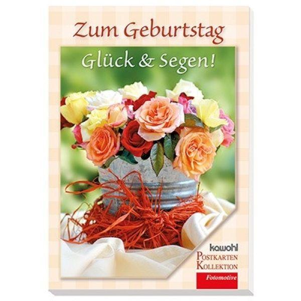 Postkartenbuch: Zum Geburtstag Glück & Segen