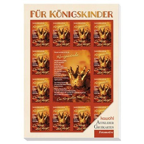 Aufkleber-Postkartenbuch: Für Königskinder
