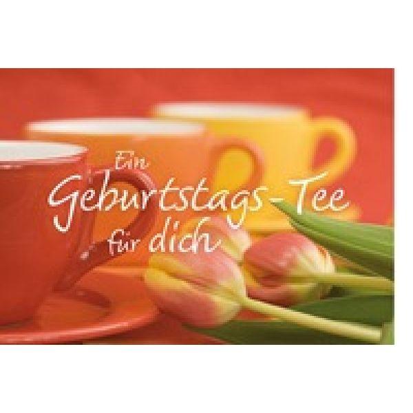 Tee-Postkarte - Ein Geburtstags-Tee für dich