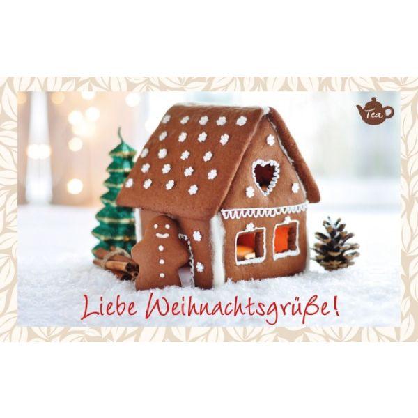 Tee-Postkarte - Liebe Weihnachtsgrüße