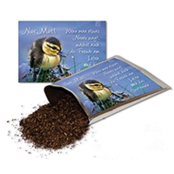 Tee-Postkarte - Nur Mut!