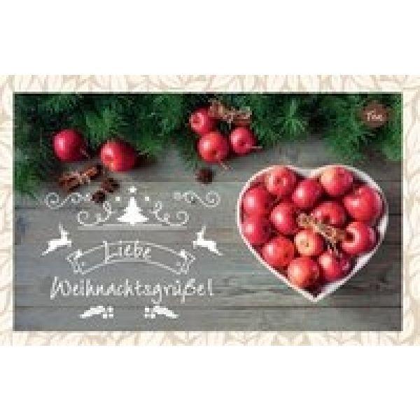 Tee-Postkarte - Liebe Weihnachtsgrüße!