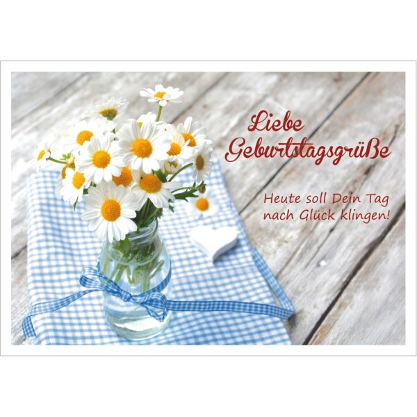Liebe Geburtstagsgrüße - Postkarte