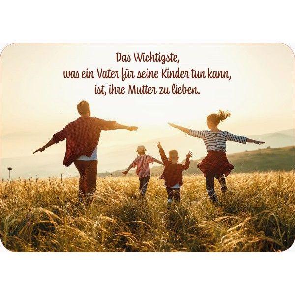 Das Wichtigste was ein Vater tun kann ... - Postkarte