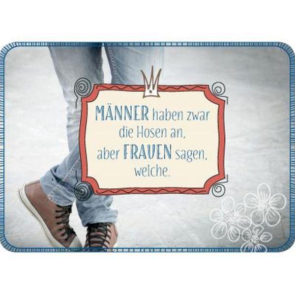 Postkarte - Männer haben zwar die Hosen an...