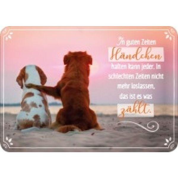 Postkarte - In guten Zeiten Händchen halten kann jeder...