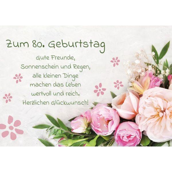 Zum 80. Geburtstag - Faltkarte