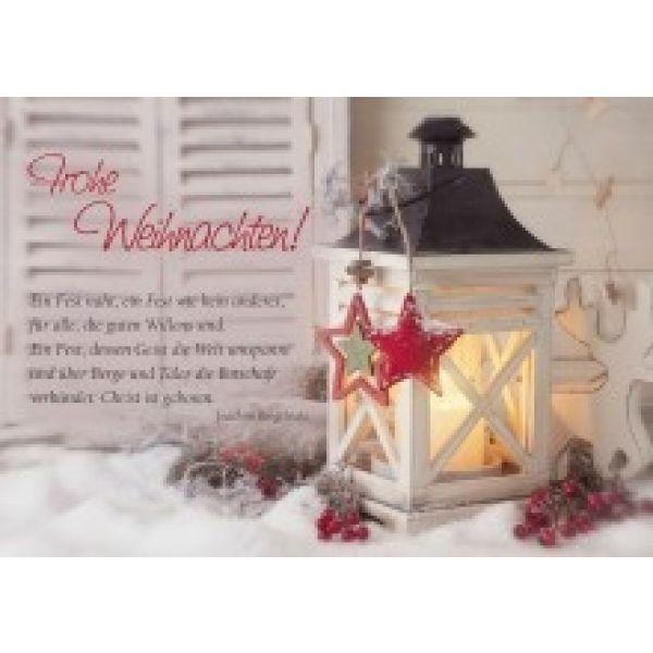 Frohe Weihnachten! ....  - Faltkarte