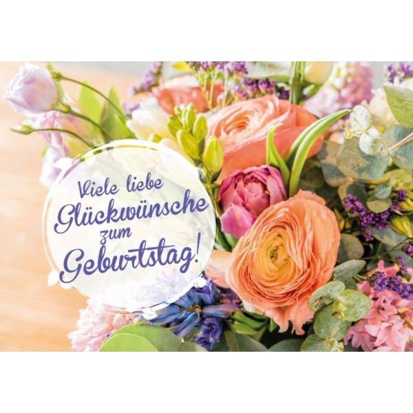 Viele Liebe Gluckwunsche Zum Geburtstag Faltkarte Schreibwaren