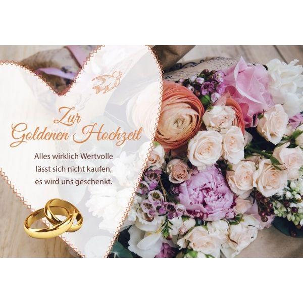 Zur Goldenen Hochzeit - Faltkarte