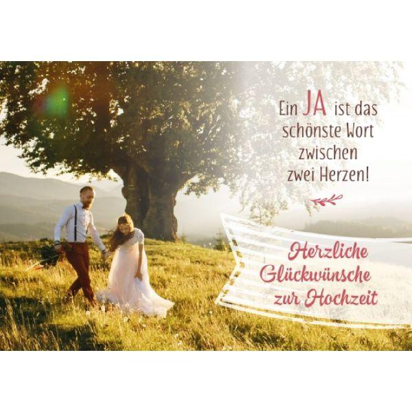 Herzliche Glückwünsche zur Hochzeit - Faltkarte