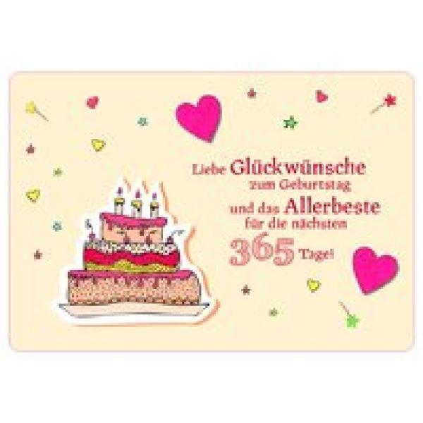 Liebe Glückwünsche zum Geburtstag - Faltkarte