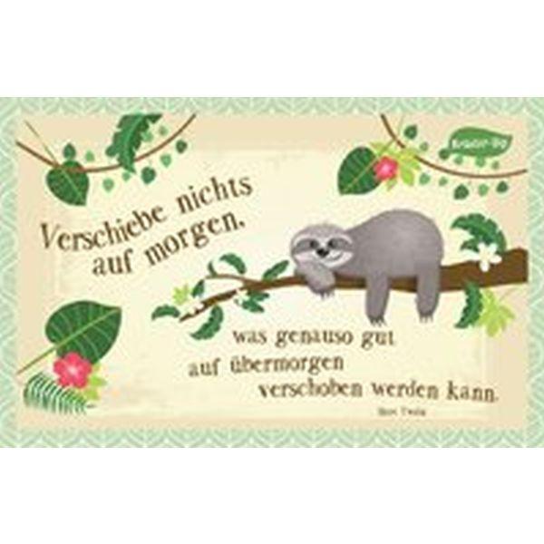 Kräuter-Dip-Postkarte - Verschiebe nicht auf morgen,...