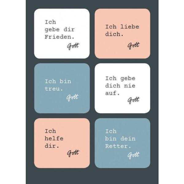 Postkarte - Ich gebe dir Frieden (Sticker)
