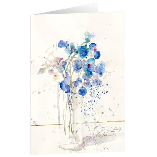 "Kunstkarten ""Blühendes Blau"""