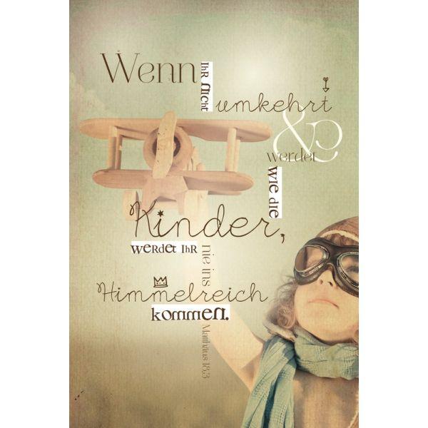 """Postkarte WortProjekt """"Werden wie die Kinder"""" - 10er-Pack"""