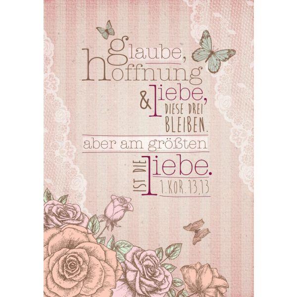 """Leinwand WortProjekt """"Glaube, Hoffnung und Liebe"""""""