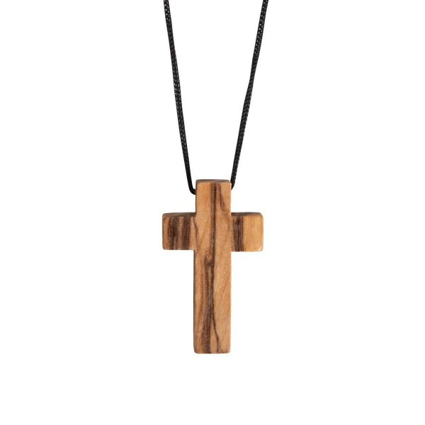 Kreuz aus Olivenholz mit Band