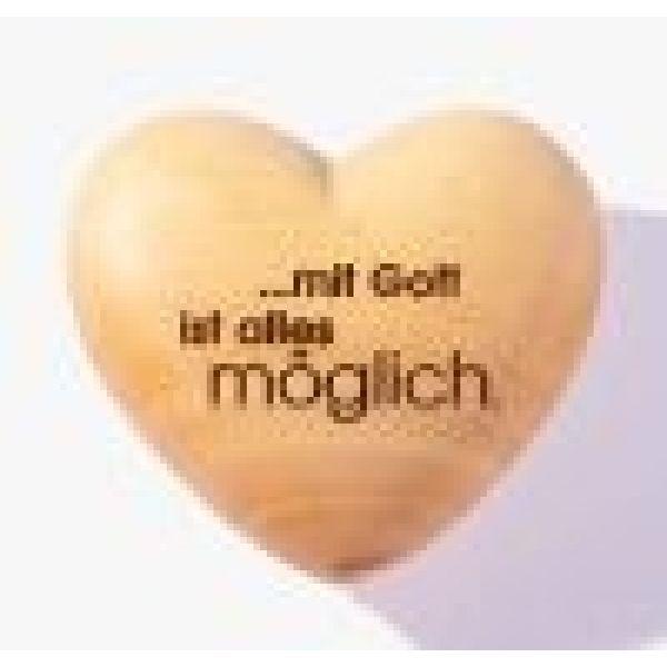 """Handschmeichler Herz """"mit Gott ist alles möglich"""""""