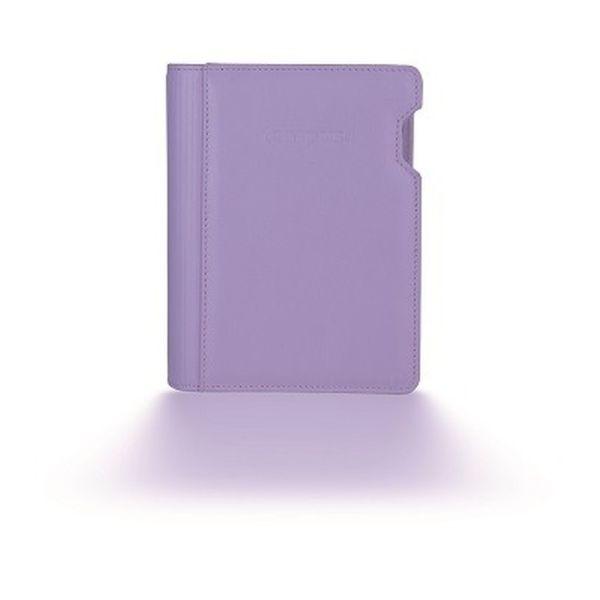 Lederringbuch WT Pastell - lila