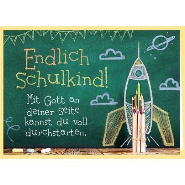 Faltkarte - Zum Schulanfang