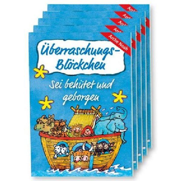 """Überraschungs-Blöckchen """"Arche Noah"""" - 5er-Pack"""
