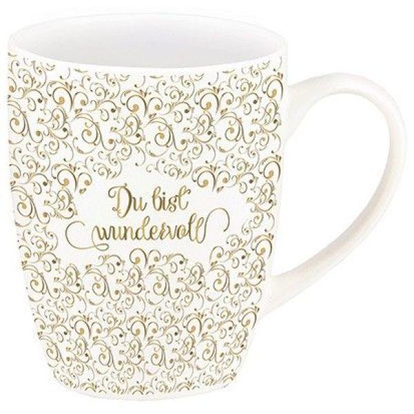 """Tasse """"Du bist wundervoll"""" (Gold-Edition)"""