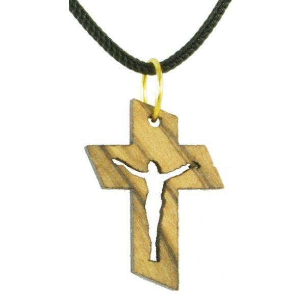 Holzkette: Kreuz mit Korpus