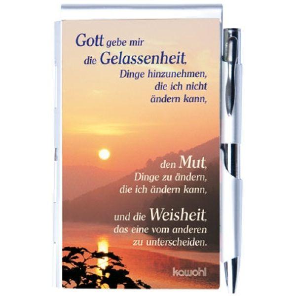 """Notizbuch """"Gott gebe mir die Gelassenheit"""""""