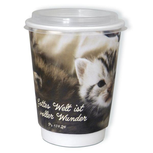 "Puzzle-Cup ""Gottes Welt ist voller Wunder Ps 104,24"" - Katzenmotiv"
