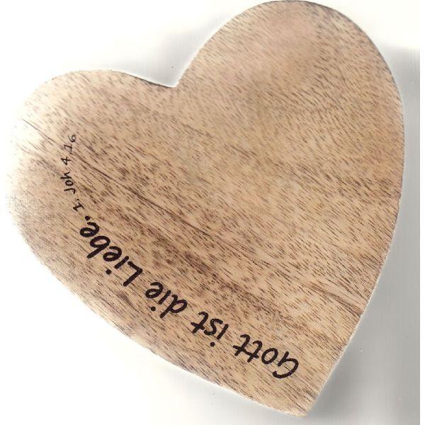 """Holz-Dekoherz """"Gott ist die Liebe"""" - klein"""