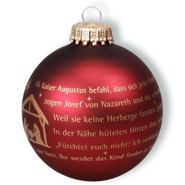 """Christbaumkugel """"Weihnachtsgeschichte"""""""