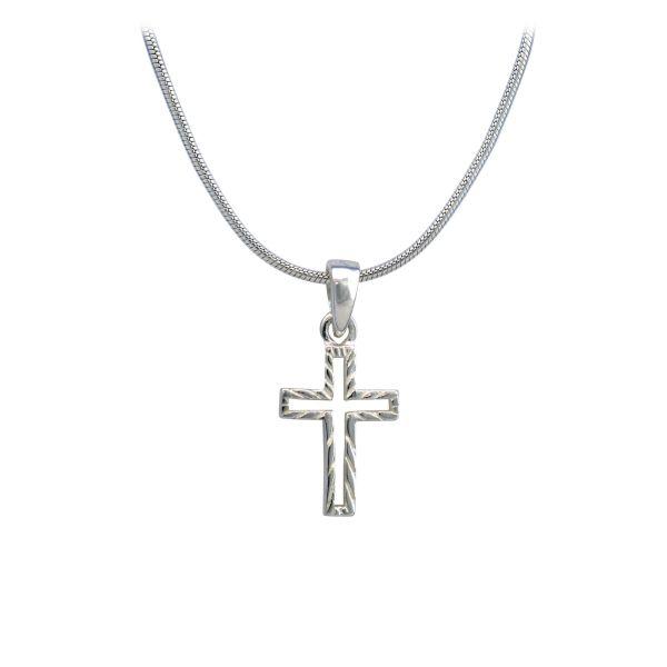 """Halskette """"Kreuz"""" silber"""
