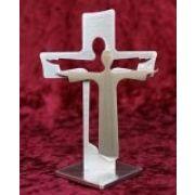 """Standkreuz """"Auferstehungskreuz"""" - klein; mit Jesus davor"""